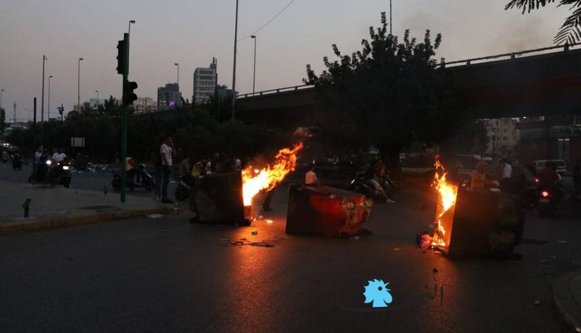 ما هي الطرق المقطوعة ضمن نطاق بيروت؟