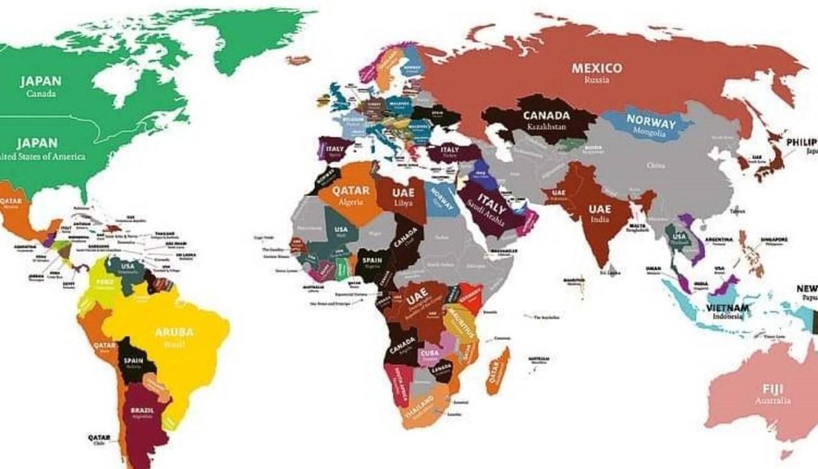 خريطة دول العالم المرغوب فيها... الإمارات وقطر ومصر ضمن الوجهات الأكثر شعبية