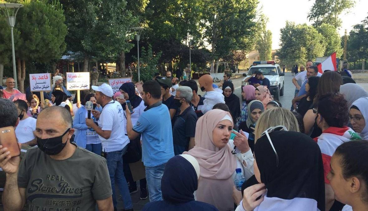 مسيرة في بعلبك احتجاجاً على الأوضاع المعيشية