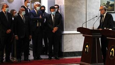 """لودريان يدعو من بغداد إلى """"عدم التهاون في الحرب ضدّ داعش"""""""