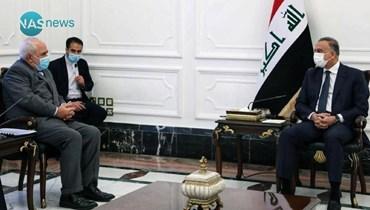 """الكاظمي يؤكِّد لظريف سعي العراق إلى """"دور متوازن وإيجابي"""" في المنطقة"""