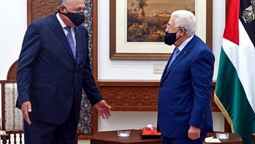 شكري التقى عباس في رام الله: مصر تؤكّد رفض خطط الضمّ الإسرائيليّة