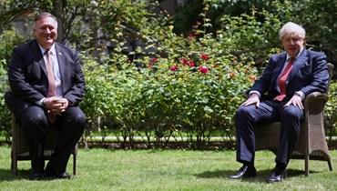 """التوتّر مع الصين بين بومبيو وجونسون: """"التباعد الاجتماعي لا يعني تباعداً سياسياً"""""""