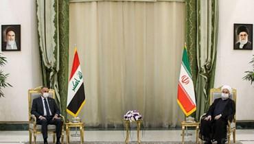 """الكاظمي يلتقي روحاني... تأكيد على استعداد إيران """"للوقوف إلى جانب العراق"""""""