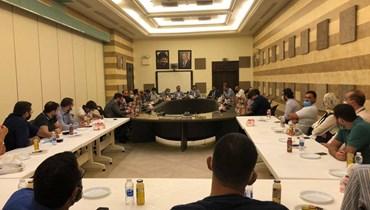 """مكتب الشباب و الرياضة المركزي في """"حركة أمل"""" يجمع الأحزاب و المنظمات الشبابية اللبنانية"""