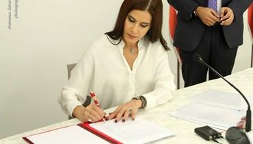 ستريدا جعجع خلال توقيع عقد لتأهيل 5 مواقع أثرية: وادي قاديشا شاهد على نضال القضية اللبنانية