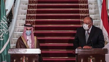"""وزير الخارجية السعودي يؤكّد من القاهرة """"الدعم الكامل"""" لمصر في أزمة ليبيا"""
