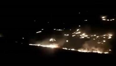 نداءات إلى الأهالي في كفرشوبا للمساعدة في إخماد حرائق ألحقتها قذائف الجيش الاسرائيلي