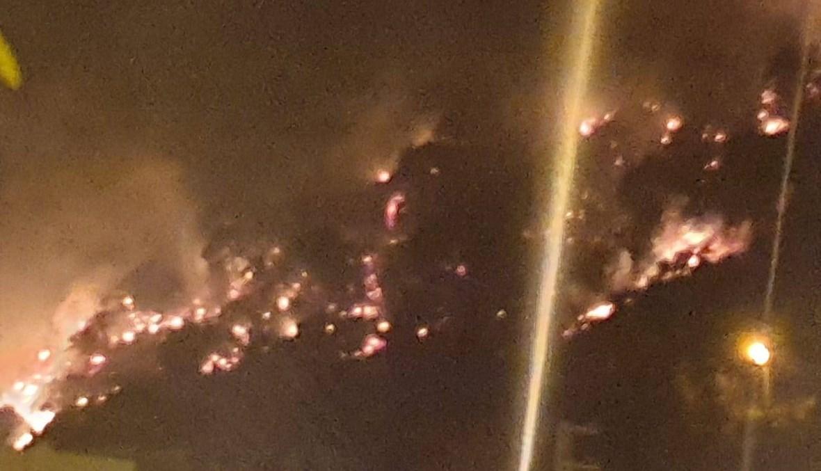 حريق كبير في جبل مشغرة طال المنازل ومناشدات للمساعدة (صور)