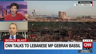 """مذيعة الـ""""CNN"""" لجبران باسيل: """"أنت من النخبة الفاسدة ولا تمثّل اللبنانيين"""""""