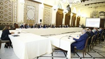 اجتماع تنسيقي في السرايا... مناقشة خطة الاستجابة الوطنية والنهوض المبكر عقب الانفجار