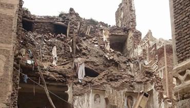 """منازل تراثية مسجلة لدى """"الأونيسكو""""... انهيار مبانٍ في صنعاء القديمة جرّاء الأمطار الغزيرة"""
