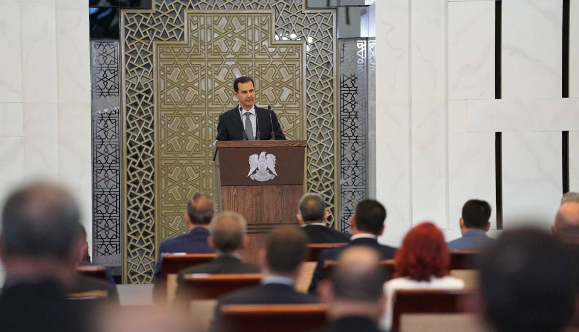 """الأسد: """"قانون قيصر"""" يضاف إلى جهود سابقة """"لخنق"""" الشعب السوري"""