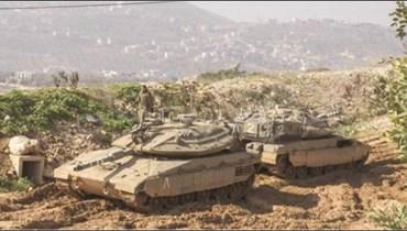 دبابتان اسرائيليتان تجاوزتا السياج التقني في كروم الشراقي