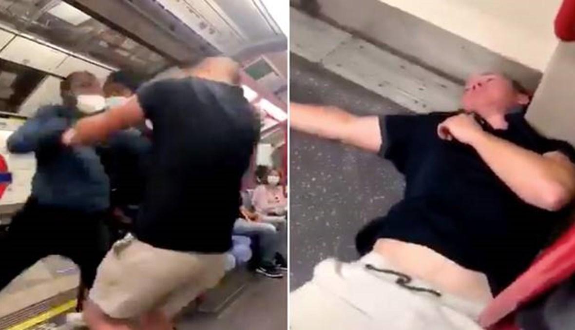 حاول استفزاز أشخاص من ذوي البشرة السمراء... ضربة قاضية تُسقط شابّاً عنصريّاً بمترو لندن (فيديو)