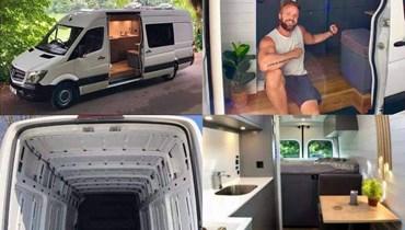 بإمكانات مميزة... أميركي يحوّل سيارة نقل إلى شقة فاخرة في 3 أشهر (فيديو وصور)