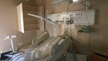 دمار شامل في مستشفى الوردية ووعد بالنهوض من تحت الركام
