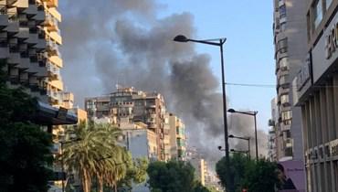 بالصور والفيديو: حريق خزان مازوت في الرملة البيضاء