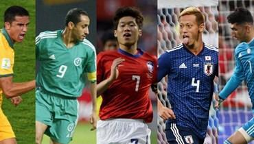 5 نجوم من آسيا في كأس العالم