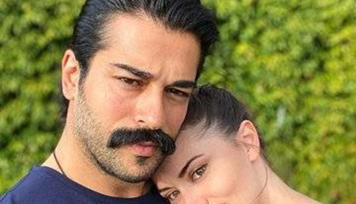 """بوراك اوزجفيت لزوجته فهرية أفجين في عيدها: """"أحبّك يا حبيبتي"""""""