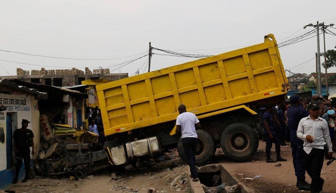 """حادث سير في عاصمة الكونغو الديموقراطية: مصرع 14 شخصاً و""""العدد قد يرتفع"""""""