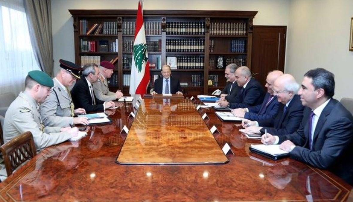 عون: الأزمة الاقتصادية والمالية في لبنان موضع معالجة وصندوق النقد سوف يقدم خبرته التقنية