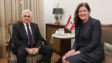 حتي زار بكركي وأبدى تفاؤلاً بدعم الأشقاء والأصدقاء  نسخة من أوراق السفيرة الأميركية الجديدة