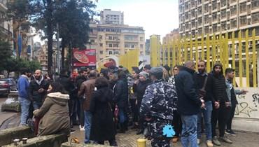 محتجون نفذوا اعتصاماً أمام شركة كهرباء لبنان (صور)