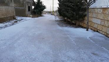 انحسار العاصفة في بعلبك الهرمل... أضرار جرّاء الجليد (صورة)