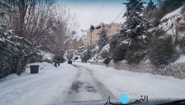 بالصور: فجر قطبي والجليد سيد الطرقات شمالاً