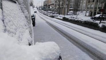 هذه الطرق مقطوعة بسبب تراكم الثلوج