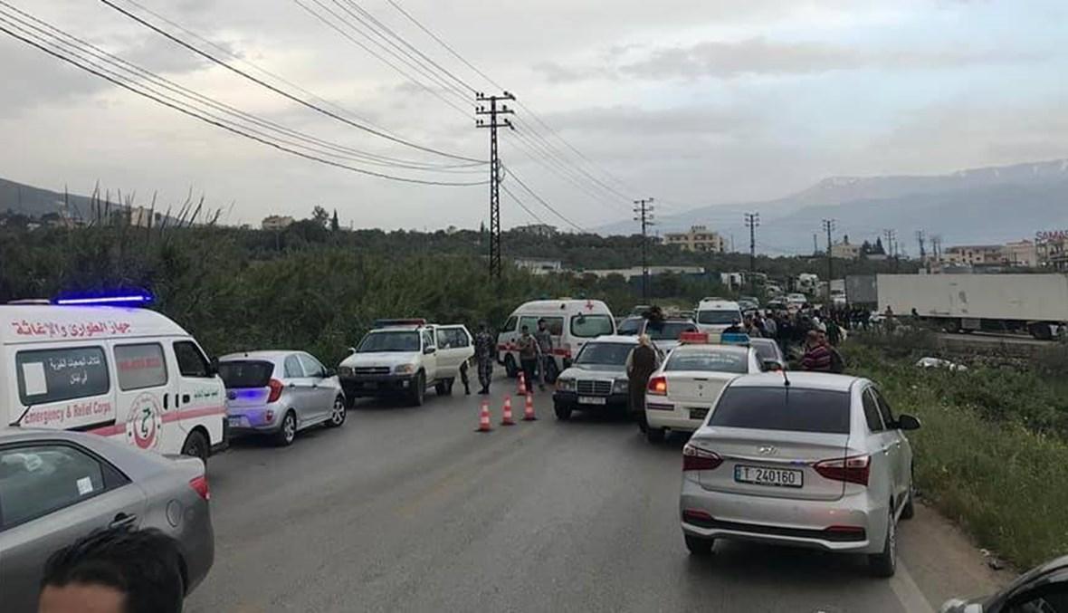 حادث سير على طريق الضنية طرابلس: قتيل و6 جرحى