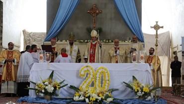 مئات الكاثوليك في المغطس: قداس احتفالي بالذكرى الـ20 للحج إلى موقع معموديّة المسيح