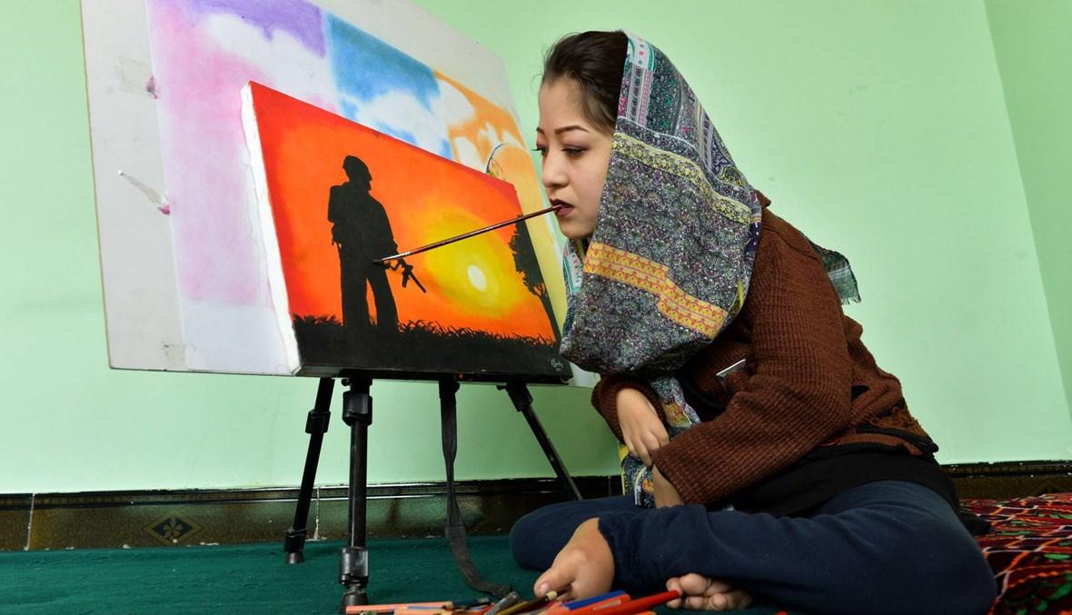 رسّامة أفغانية من ذوي الإرادات الصلبة تفتتح مركزاً لتدريب فنانين: والدي واظب على تشجيعي