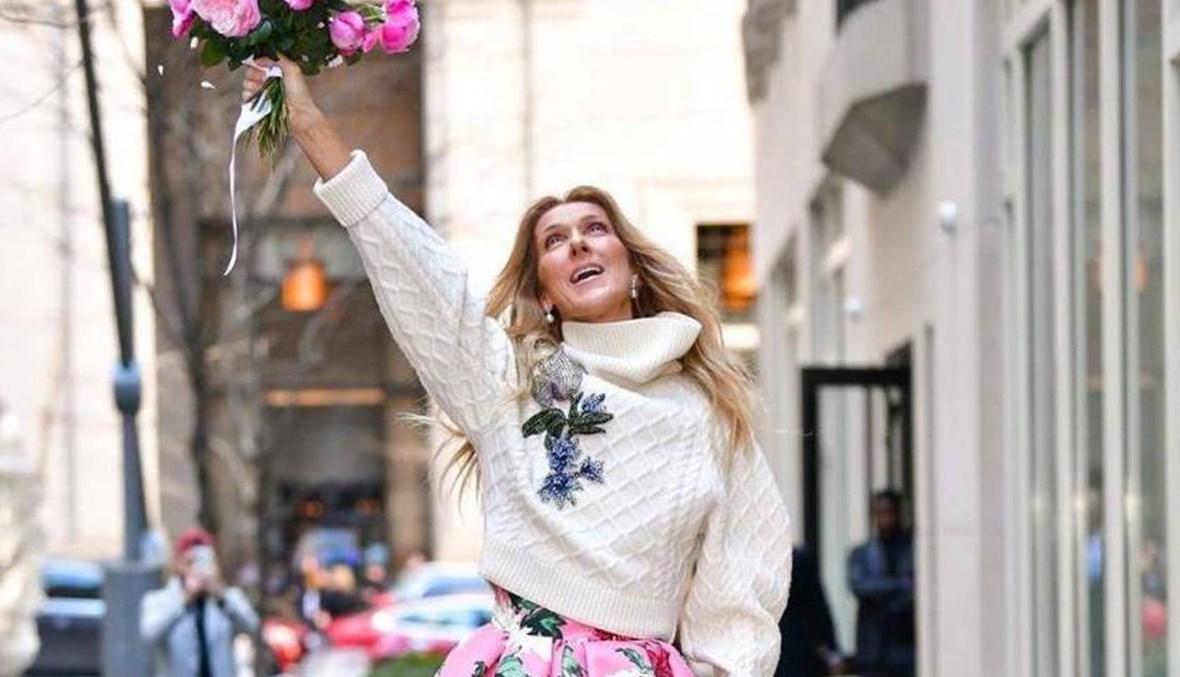 سيلين ديون بصيحة الزهور في نيويورك: إطلالة أنثوية وعصرية