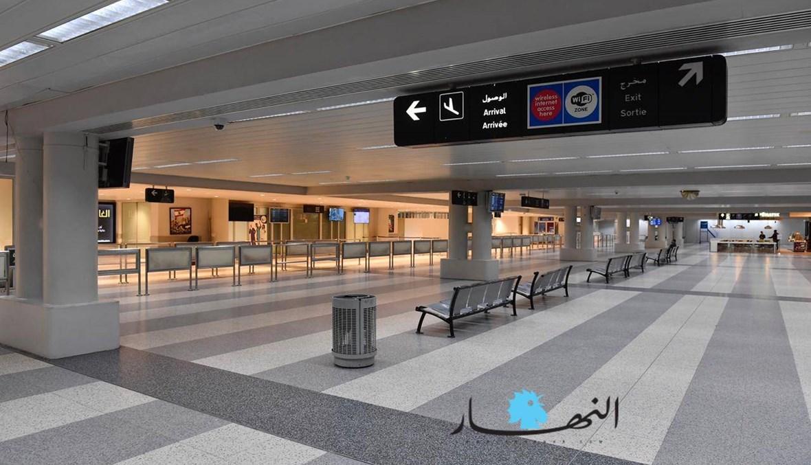 كورونا يقفل مطار لبنان... المشهد بالصور والفيديو
