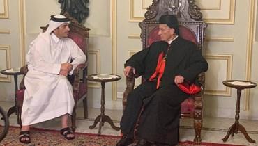 الراعي استقبل وزير الخارجية القطري في بكركي
