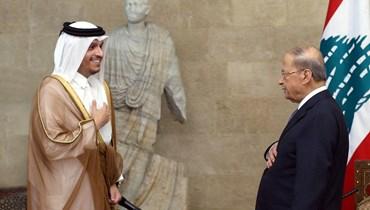 وزير الخارجية القطري في لبنان: خطتان للأضرار وإعمار مدارس