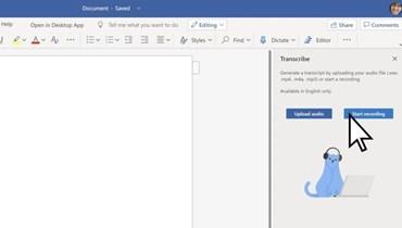 مايكروسوفت تدعم برنامج Word بميزة النسخ الصوتي للمحادثات