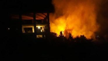 """الدفاع المدني يُخمد حريق داريا ـ الضنية وشكوك أنّه """"مُتعمّد"""""""
