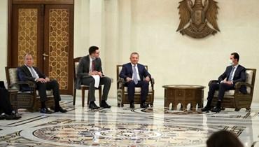 وفد روسي رفيع المستوى يجري محادثات مع الأسد حول التعاون الاقتصادي وتجاوز العقوبات