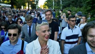 بيلاروسيا: ملثمون مجهولون اعتقلوا زعيمة الاحتجاجات ماريا كوليسنيكوفا