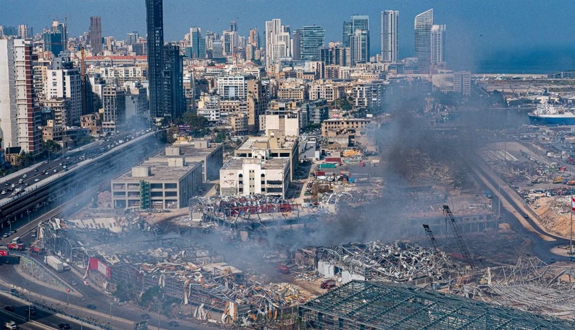 المرفأ بعد إخماد الحريق (نبيل إسماعيل).
