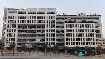 Annahar building: A canvas for BeirutWeLoveYou's projection of solidarity