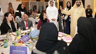بالصور: الشيخ محمد بن راشد يهنّئ الفائزين بمؤشر التوازن بين الجنسين