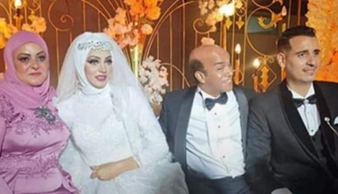 سليمان عيد في زفاف ابنته.