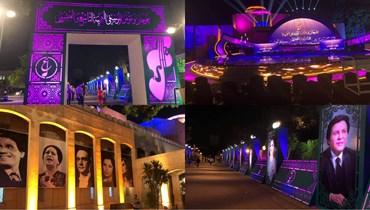 فيروز وشادية والعندليب وأم كلثوم يستقبلون ضيوف مهرجان الموسيقى العربية الليلة (صور)