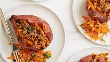 البطاطا الحلوة المحشوّة باللحم: الأطيب مع الخضار