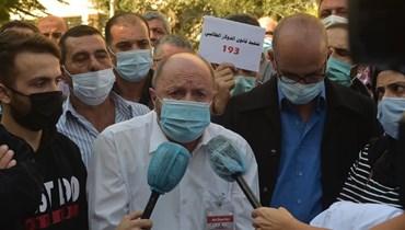 اعتصام أمام مصرف لبنان للمطالبة بتطبيق قانون الدولار الطالبي (صور)