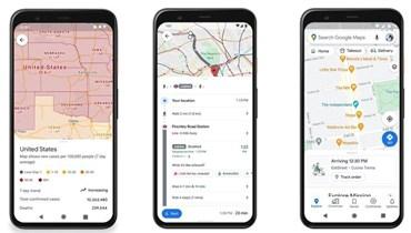 """ميزات جديدة في تطبيق """"خرائط غوغل"""" تتعلق بفيروس كورونا"""
